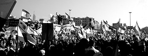 Martyr Square demonstrations in 2005, Beirut, Lebanon.